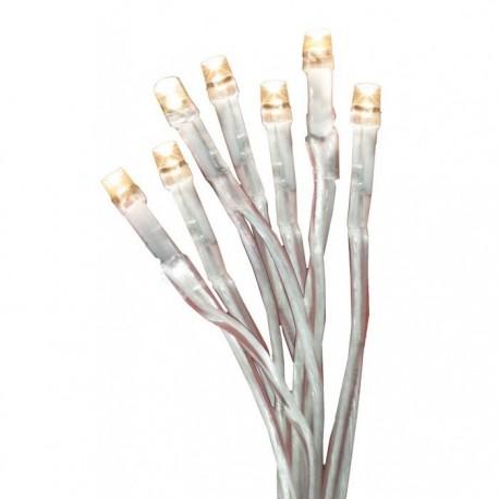 D-LED lyskæde m. 20x LED Varm hvid