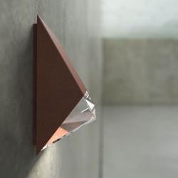 Edge 100 udendørs væglampe - Corteen