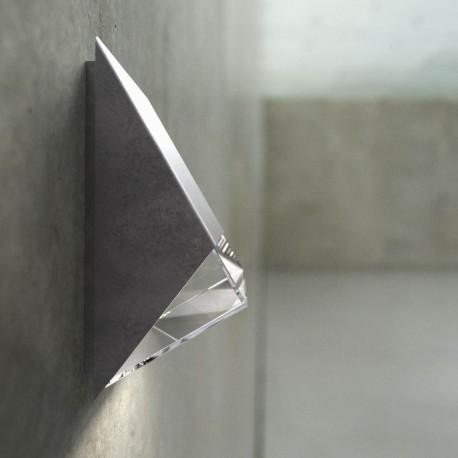 Edge 100 udendørs væglampe - Galvaniseret stål
