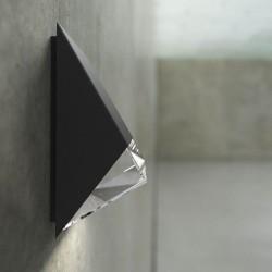Edge 100 udendørs væglampe - Sort