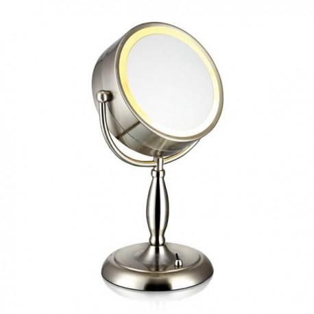 Face bordlampe m/spejl - Børstet stål
