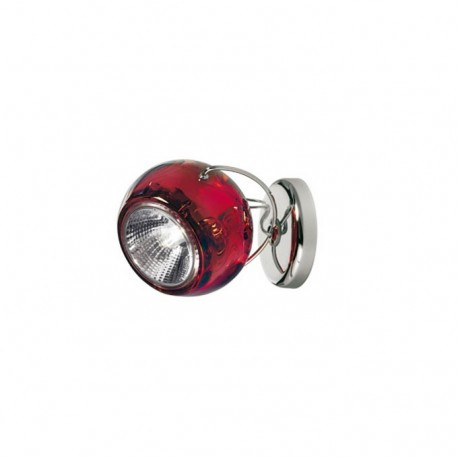 Beluga væg/loftslampe med kabeludgang - Rød