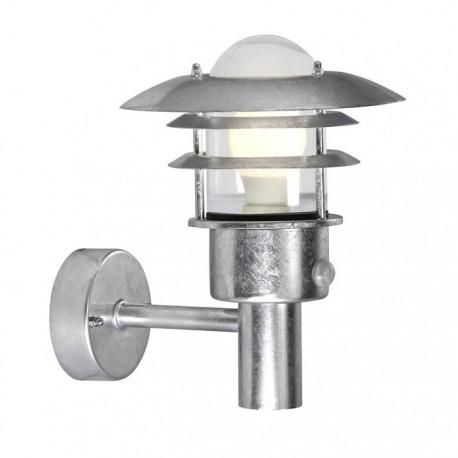 Lønstrup 22 udendørs væglampe - Galvaniseret stål m/sensor