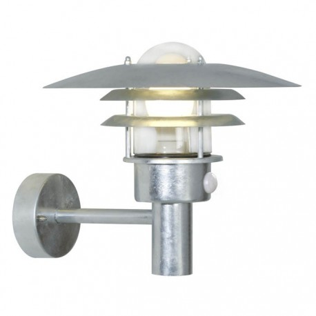 Lønstrup 32 udendørs væglampe - Galvaniseret stål m/sensor