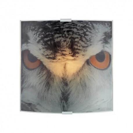 Markslöjd Owl væglampe - Glas m/motiv