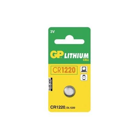 GP CR1220 Lithium knapcelle batteri