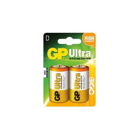 GP Ultra Alkaline D Batteri / LR20 - 2 Stk