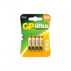 GP Ultra Alkaline AAA Batteri / LR03 - 4 Stk