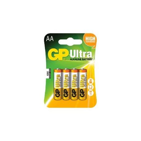 GP Ultra Alkaline AA Batteri / LR06 - 4 Stk