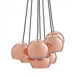 Frandsen Ball Multi lysekrone m. 7 pendler - Kobber