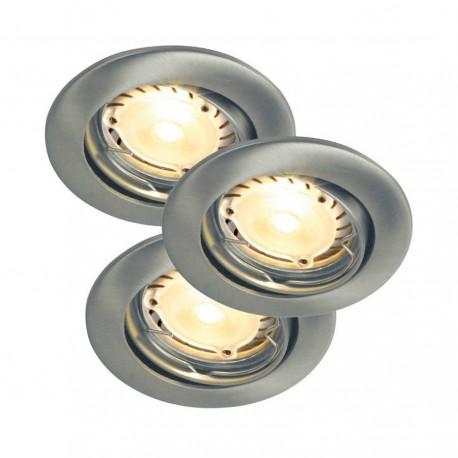 Evo LED Børstet stål - 3 x 3 LED GU10 - 220 Lumen