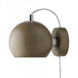 Frandsen Ball væglampe - Mat brun