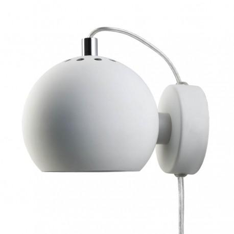 Frandsen Ball væglampe - Mat hvid