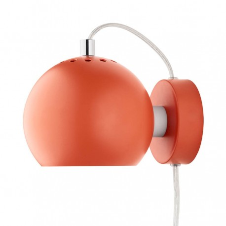 Frandsen Ball væglampe - Mat orange