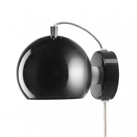 Frandsen Ball væglampe - Blank sort