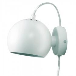 Frandsen Ball væglampe - Blank hvid