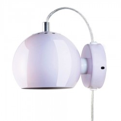 Frandsen Ball væglampe - Blank lys rosa