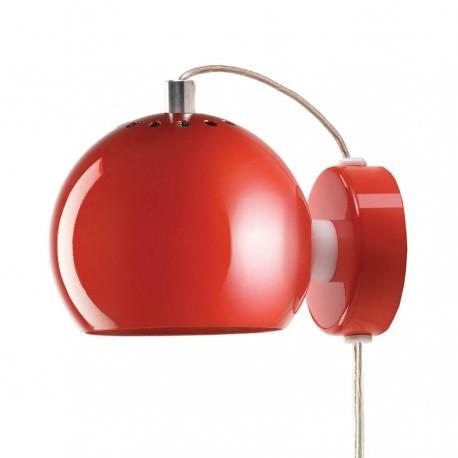 Frandsen Ball væglampe - Blank rød