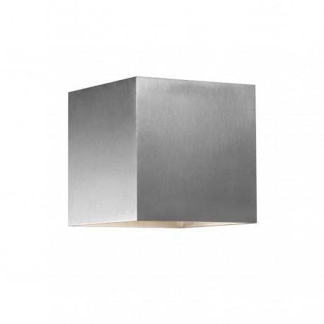 Box up/down LED væglampe - Aluminium