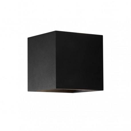Box up/down LED væglampe - Sort
