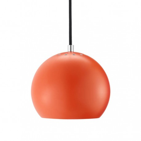 Frandsen Ball pendel - Mat orange m/sort stofledning