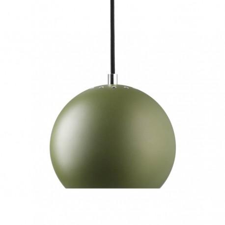 Frandsen Ball pendel - Mat grøn m/sort stofledning