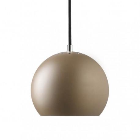 Frandsen Ball pendel - Mat brun m/sort stofledning