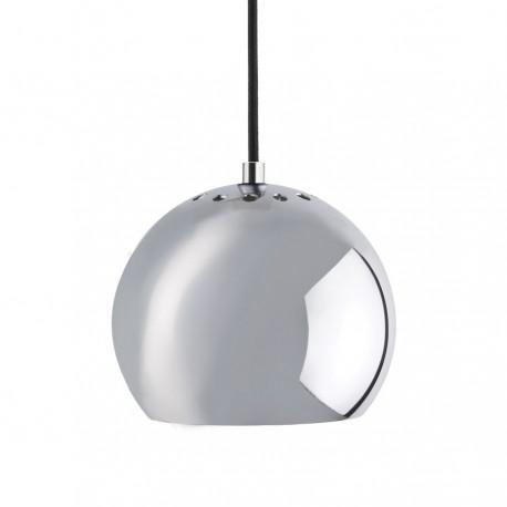 Frandsen Ball pendel - Blank krom m/sort stofledning