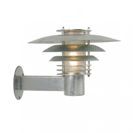 Phoenix Mini væglampe - Galvaniseret stål