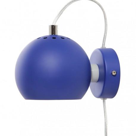 Frandsen Ball væglampe - Mat kobolt