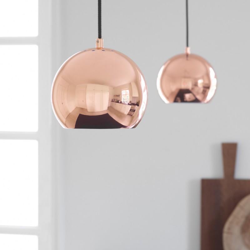 frandsen ball pendel kobber 18 lys. Black Bedroom Furniture Sets. Home Design Ideas