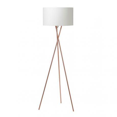 Uptown gulvlampe - Kobber m. hvid lampeskærm