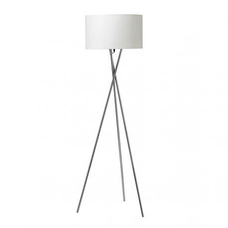 Uptown gulvlampe - Stål m. hvid lampeskærm