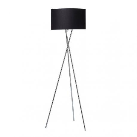 Uptown gulvlampe - Stål m. sort lampeskærm
