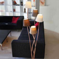 Rocoto gulvlampe - Kobber