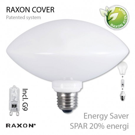 E27 Ellipse-cover Ø160 +48W Energy Saver