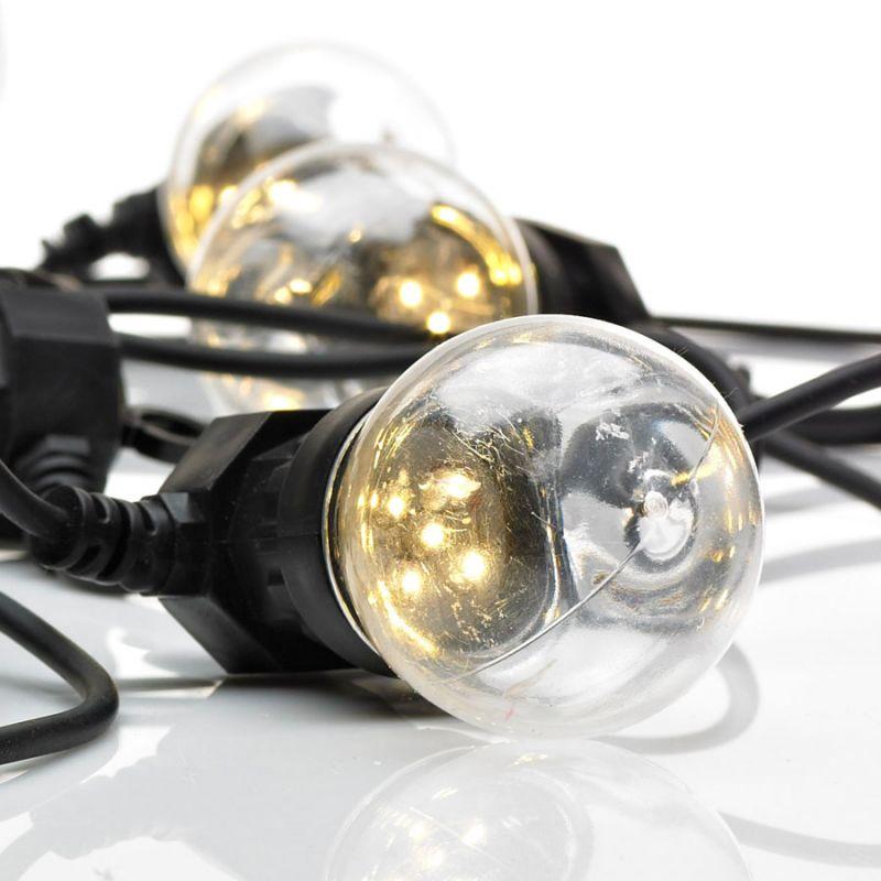 Dakke lyskæde med 10 LED lys - Klar - Markslöjd