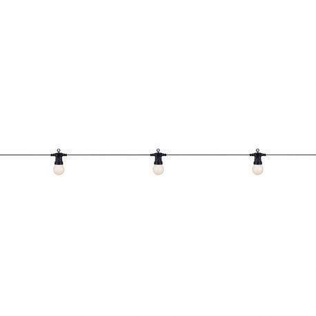Dakke lyskæde med 10 LED lys - Opalhvid