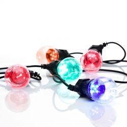 Dakke lyskæde med 10 LED lys - Grøn pære