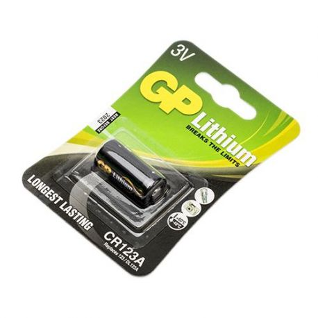 GP Fotobatt. Lithium CR123A 3V 1 stk