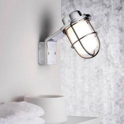 Marina væglampe - Krom/glas