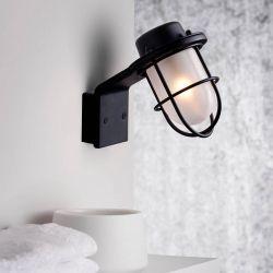 Marina væglampe - Sort/glas