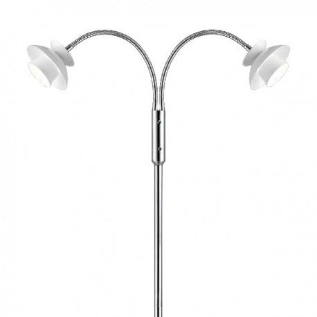 Dallas Metal gulvlampe - Hvid - Ø12,5