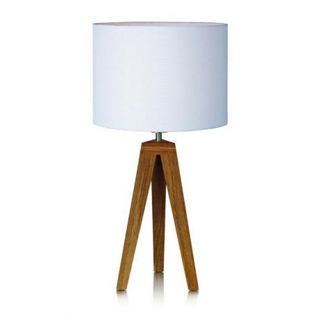 Kullen bordlampe - Eg/hvid 55 cm