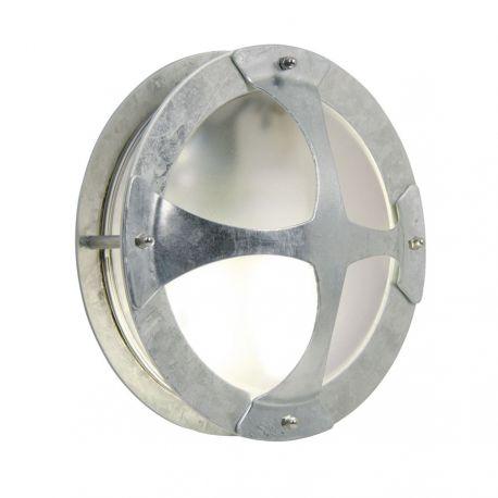 Malte væglampe m/kryds - Galvaniseret stål