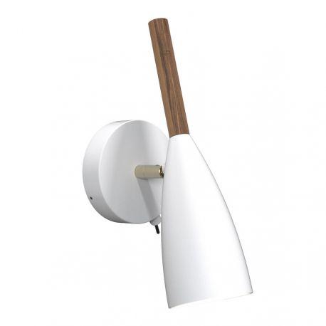 Nordlux Pure væglampe - Hvid/valnød