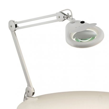 Halltorp bordlampe med forstørrelsesglas - Hvid