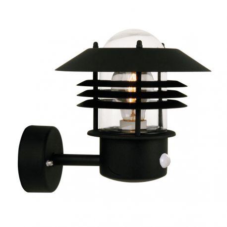 Nordlux Vejers væglampe m/sensor - Sort