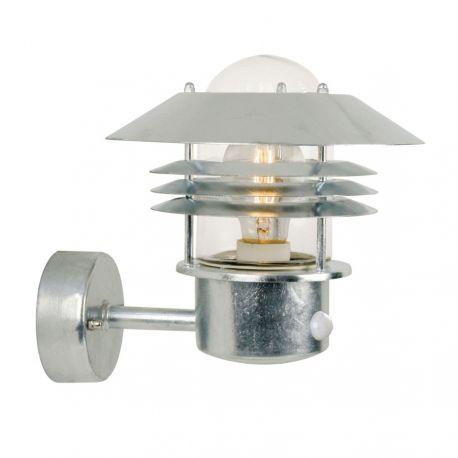 Nordlux Vejers væglampe m/sensor - Galvaniseret