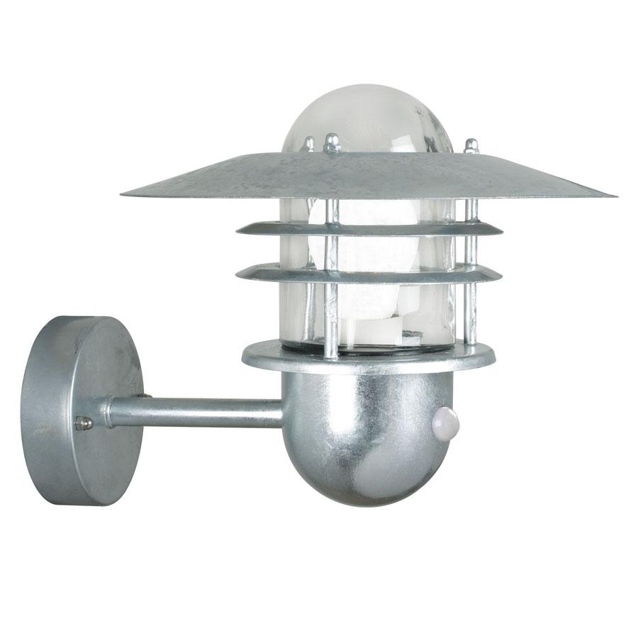 Nordlux Agger v u00e6glampe m sensor Galvaniseret Stål Udendorslamper